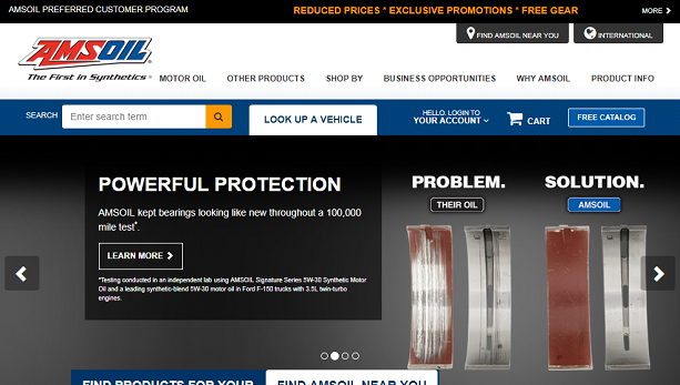 AMSOIL home page